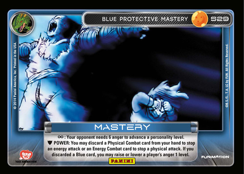 Dragon Ball Z CCG 2014 Starter Set Fixed Blue Protective Mastery S29 [Chrome Foil]