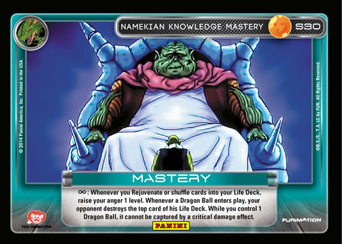 Dragon Ball Z CCG 2014 Starter Set Fixed Namekian Knowledge Mastery S30 [Chrome Foil]