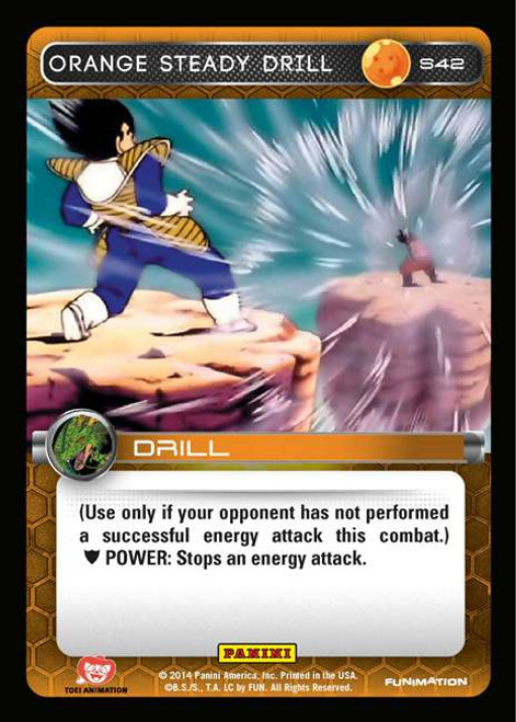 Dragon Ball Z CCG 2014 Starter Set Fixed Orange Steady Drill S42