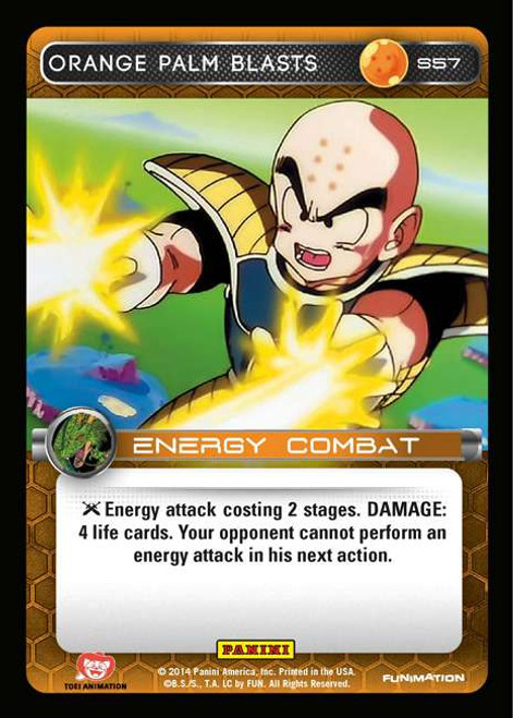 Dragon Ball Z CCG 2014 Starter Set Fixed Orange Palm Blasts S57
