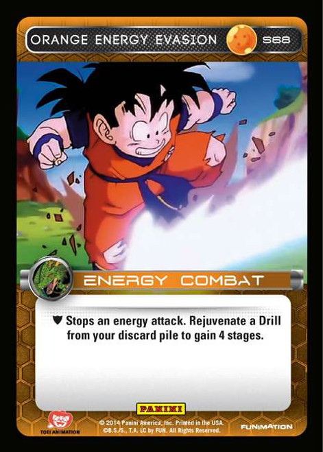 Dragon Ball Z CCG 2014 Starter Set Fixed Orange Energy Evasion S68
