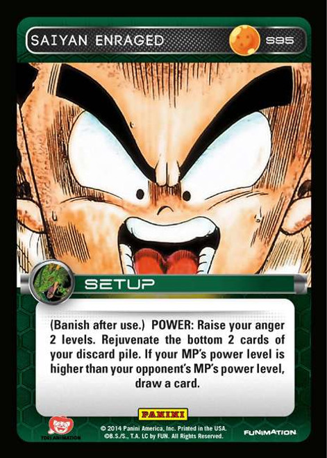 Dragon Ball Z CCG 2014 Starter Set Fixed Saiyan Enraged S95