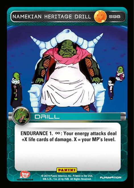 Dragon Ball Z CCG 2014 Starter Set Fixed Namekian Heritage Drill S98