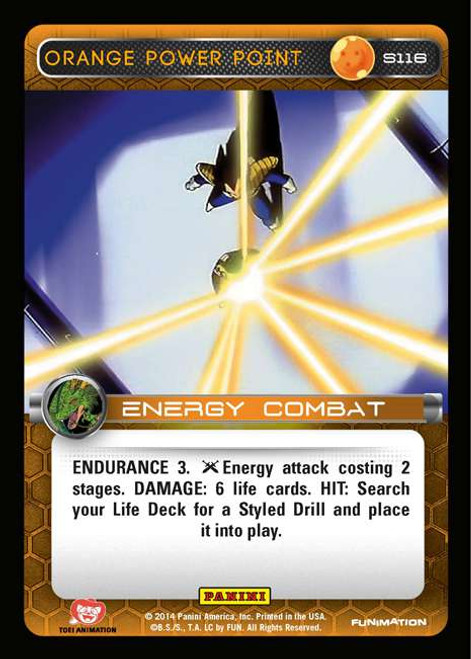 Dragon Ball Z CCG 2014 Starter Set Fixed Orange Power Point S116