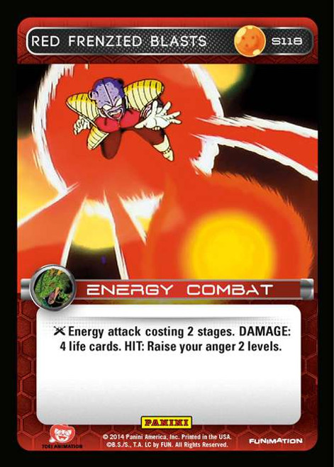 Dragon Ball Z CCG 2014 Starter Set Fixed Red Frenzied Blasts S118