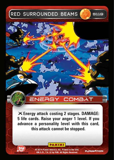 Dragon Ball Z CCG 2014 Starter Set Fixed Red Surrounded Beams S119