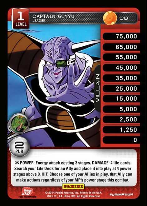 Dragon Ball Z CCG Set 1 Common Captain Ginyu - Leader C6