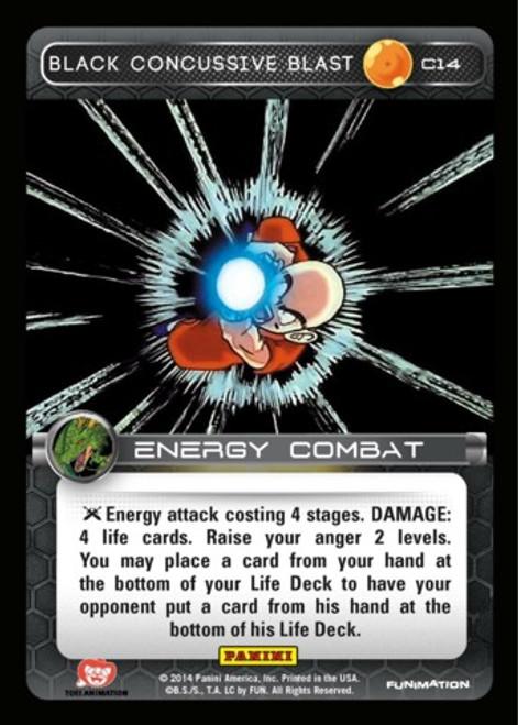 Dragon Ball Z Set 1 Common Black Concussive Blast C14