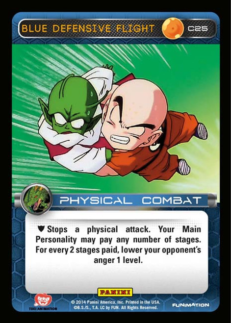Dragon Ball Z Set 1 Common Blue Defensive Flight C25