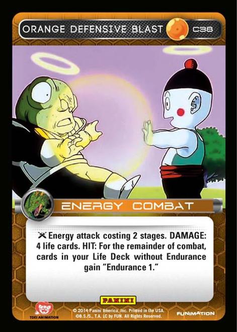 Dragon Ball Z Set 1 Common Orange Defensive Blast C38