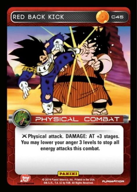 Dragon Ball Z CCG Set 1 Common Red Back Kick C45