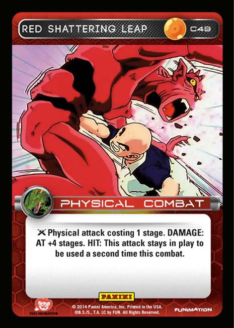 Dragon Ball Z Set 1 Common Red Shattering Leap C49