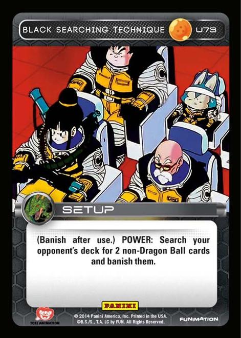 Dragon Ball Z Set 1 Uncommon Black Searching Technique U73