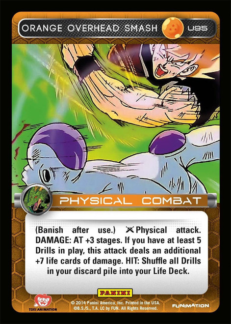 Dragon Ball Z Set 1 Uncommon Orange Overhead Smash U95