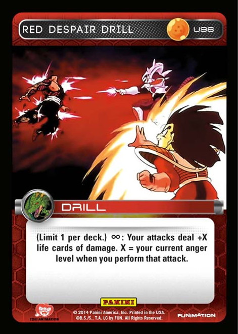 Dragon Ball Z CCG Set 1 Uncommon Red Despair Drill U96