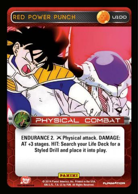 Dragon Ball Z CCG Set 1 Uncommon Red Power Punch U100