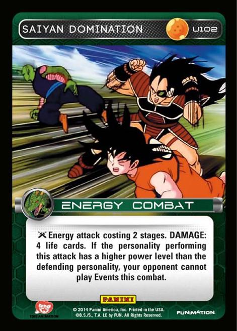 Dragon Ball Z CCG Set 1 Uncommon Saiyan Domination U102