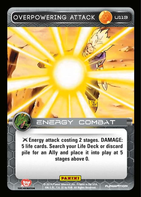 Dragon Ball Z Set 1 Uncommon Overpowering Attack U113