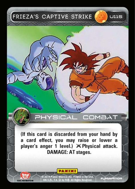 Dragon Ball Z CCG Set 1 Uncommon Frieza's Captive Strike U115