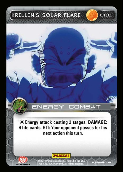 Dragon Ball Z CCG Set 1 Uncommon Krillin's Solar Flare U118