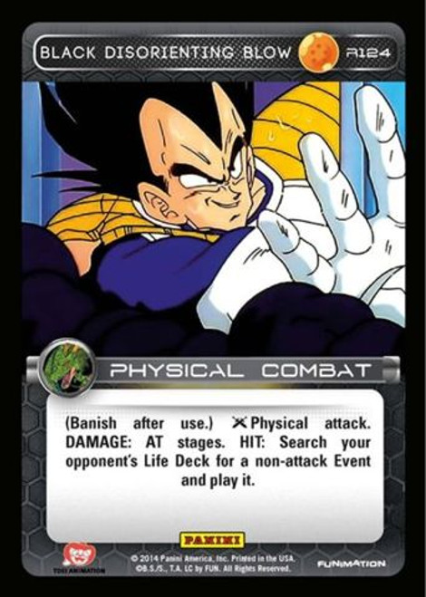 Dragon Ball Z CCG Set 1 Rare Black Disorienting Blow R124