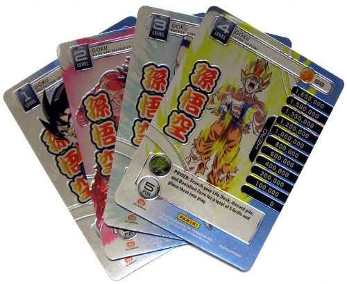 Dragon Ball Z Trading Card Game 2014 Starter Set Set of 4 Goku Personality Fixed Single Cards