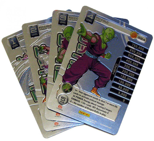 Dragon Ball Z Trading Card Game 2014 Starter Set Set of 4 Piccolo Personality Fixed Single Cards