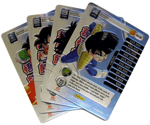 Dragon Ball Z Trading Card Game 2014 Starter Set Set of 4 Gohan Personality Fixed Single Cards
