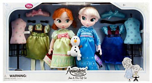 Disney Frozen Animators' Collection Anna & Elsa 16-Inch Doll 2-Pack