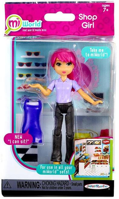 MiWorld Shop Girl Action Figure [Purple Top, Purple Apron & Pink Hair]