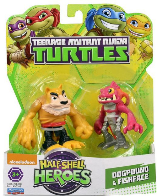 Teenage Mutant Ninja Turtles TMNT Half Shell Heroes Dogpound & Fishface Action Figure 2-Pack