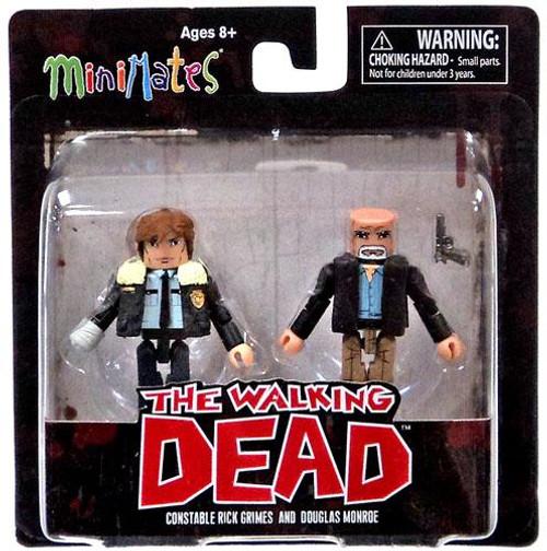 The Walking Dead Minimates Series 6 Constable Rick Grimes & Douglas Monroe Minifigure 2-Pack
