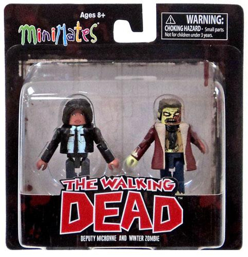 The Walking Dead Minimates Series 6 Deputy Michonne & Winter Zombie Minifigure 2-Pack