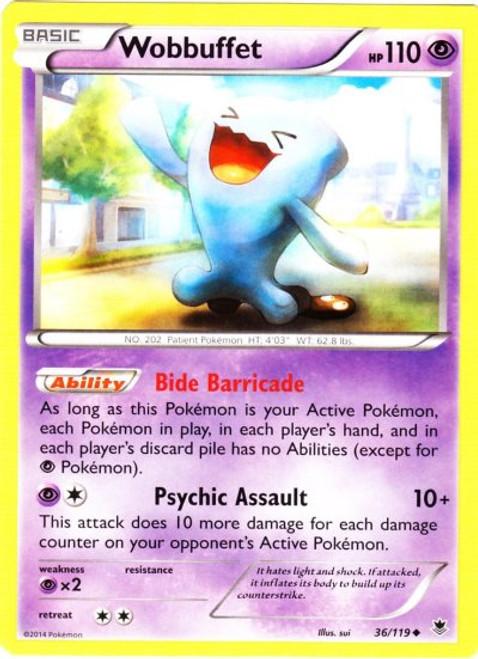 Pokemon X & Y Phantom Forces Uncommon Wobbuffet #36