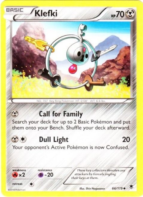 Pokemon X & Y Phantom Forces Uncommon Klefki #66