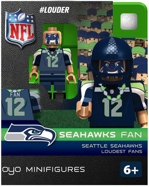 NFL Seattle Seahawks #Louder Seahawks Fan Minifigure [Loudest Fans]