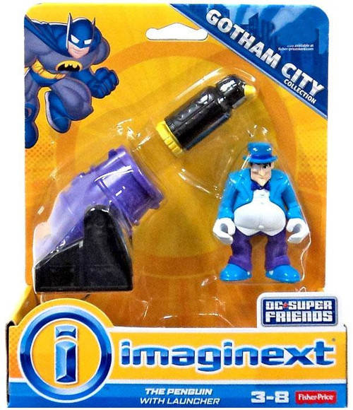 Fisher Price DC Super Friends Imaginext The Penguin with Launcher 3-Inch Figure Set
