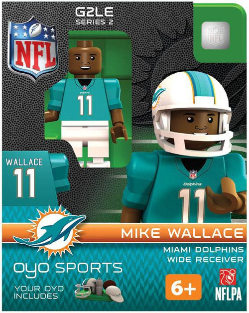 Miami Dolphins NFL Generation 2 Series 2 Mike Wallace Minifigure