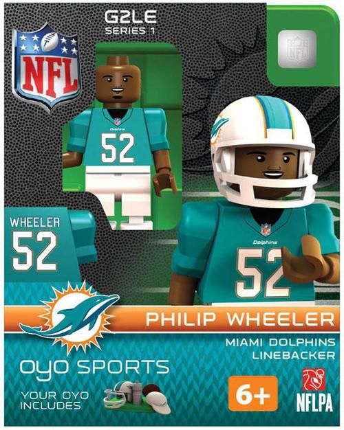 Miami Dolphins NFL Generation 2 Series 1 Philip Wheeler Minifigure