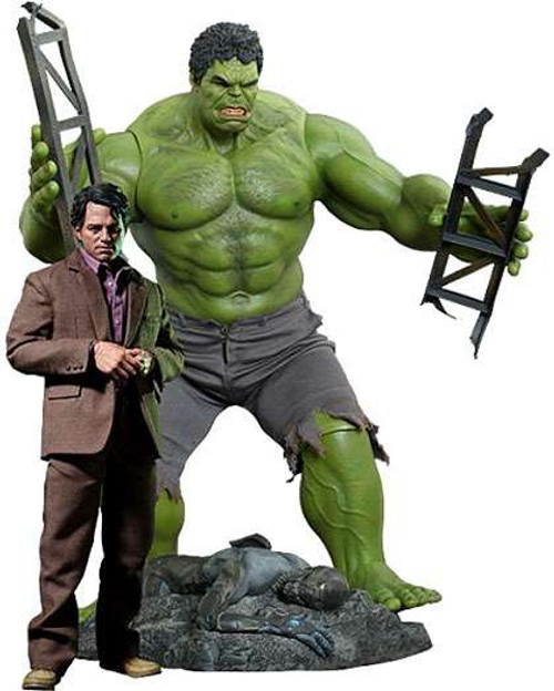 Marvel Avengers Movie Masterpiece Bruce Banner & Hulk Collectible Figure