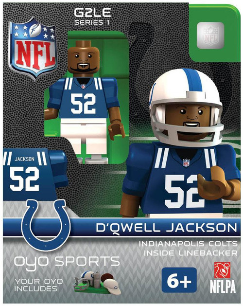 Indianapolis Colts NFL Generation 2 Series 1 D'Qwell Jackson Minifigure