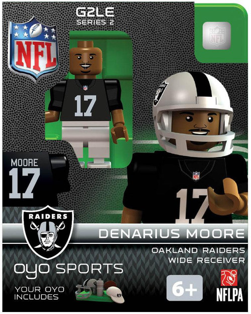 Oakland Raiders NFL Generation 2 Series 2 Denarius Moore Minifigure