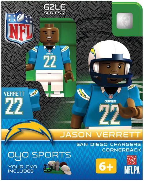 San Diego Chargers NFL Generation 2 Series 2 jason Verrett Minifigure