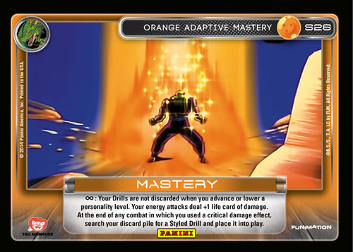 Dragon Ball Z Trading Card Game 2014 Starter Set Fixed Orange Adaptive Mastery #26 [Prizm Foil]