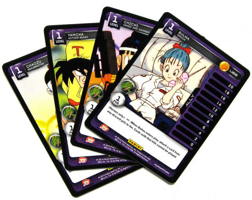 Dragon Ball Z Set 1 Set of 4 Hero Allies Single Cards C8, U68, U69 & U70
