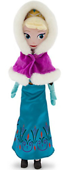Disney Frozen Holiday Elsa 21-Inch Plush [Hooded Cape]