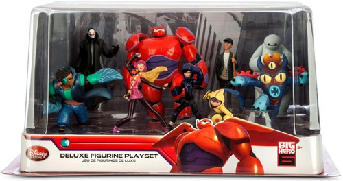 Disney Big Hero 6 Exclusive 9-Piece Deluxe PVC Figure Playset