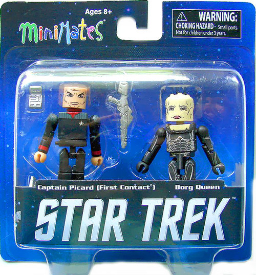 Star Trek First Contact MiniMates Captain Picard & Borg Queen Minifigure 2-Pack [Damaged Package]