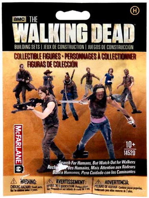 McFarlane Toys The Walking Dead Building Sets Series 1 Walking Dead Collectible Figures Mystery Pack #14520 [Humans]