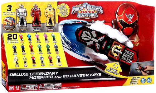 Power Rangers Super Megaforce Deluxe Legendary Morpher And 20 Ranger Keys Exclusive Roleplay Toy